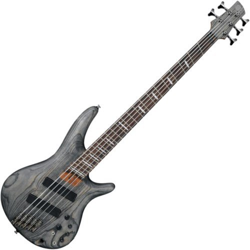 Ibanez SRFF805 Multi Scaling 5-String Electric Bass Guitar Satin Black by Ibanez