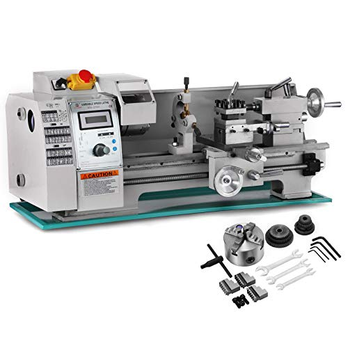 BestEquip 8x16 Inch Metal Lathe 2500RPM 750W Mini Bench Lathe Variable Spindle Speed Lathe Machine for Mini Precision Parts Processing (Machine Lathe)
