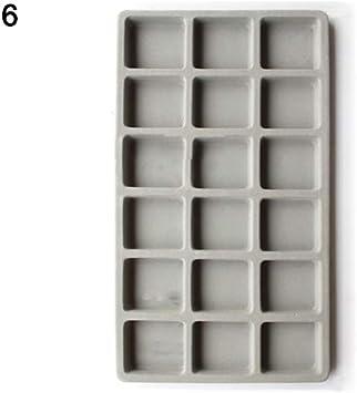 Bricolaje dise/ño de Collar Panel medidor de Cuentas para Pulsera geshiglobal joyer/ía 18 Grid Tray