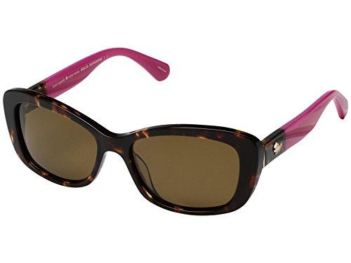 Kate Spade New York Women's Claretta/P/S Havana Pink/Bronze Polarized Lens - Kate Pink Spade Sunglasses