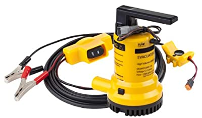 Rule Evacuator 2000-High Capacity Submersible 12 Volt DC Utility Pump (Yellow/Black)