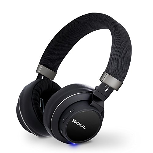 SOUL IMPACT OE signature sound On-Ear wireless headphones,Bluetooth headset stereo bass along w/ clarity of mids & highs, Stylish Black,18 hours playtime, Carrying bag, Lightweight and Foldable design