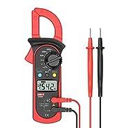 Signstek Uni-t UT202A Auto/Manual Range Digital Handheld Clamp Meter Multimeter Test Tool Digital Handheld Clamp Ohm Tester, AC/DC Voltmeter, AC Current