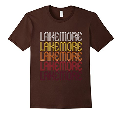 Men's Lakemore, OH | Vintage Style Ohio T-shirt 2XL Brown