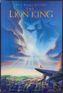 Disney's The Lion King Original Promo Movie Poster - Rare 1994