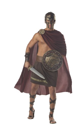 California Costumes Men's Spartan Warrior,Brown,Large