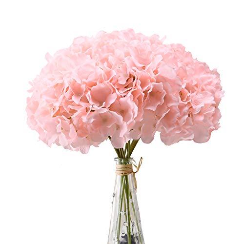 Flower Centerpieces For Baby Shower - Aviviho Hydrangea Silk Flowers Heads Blush