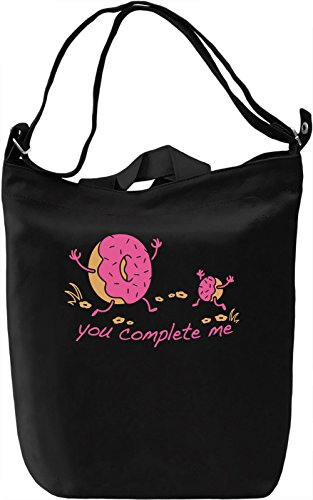 You Complete Me Borsa Giornaliera Canvas Canvas Day Bag| 100% Premium Cotton Canvas| DTG Printing|