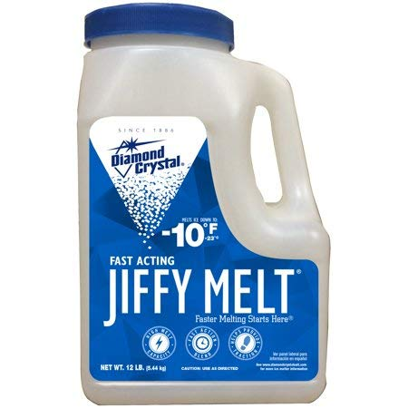 Jiffy Melt Ice Melter Salt Mix 12 Pound Jug Case of 4 ()