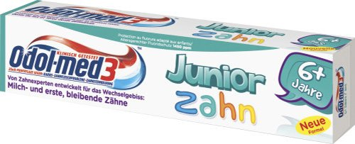 Odol-med 3 Junior Zahncreme 50 ml, 3er Pack (3 x 50 ml)