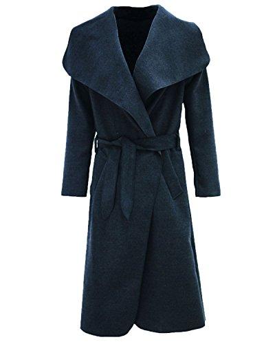 femme longues Manteau à manches bleu Wamtextiles marine tC6qIxIw