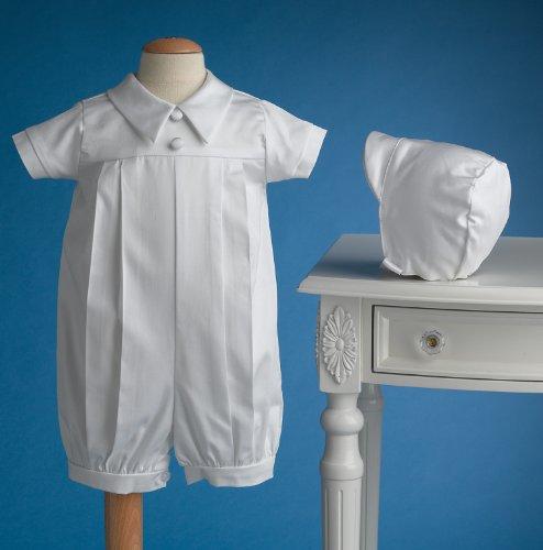 1bbd36f609fef Lauren Madison Baby boy Christening Baptism Infant Polished cotton ...