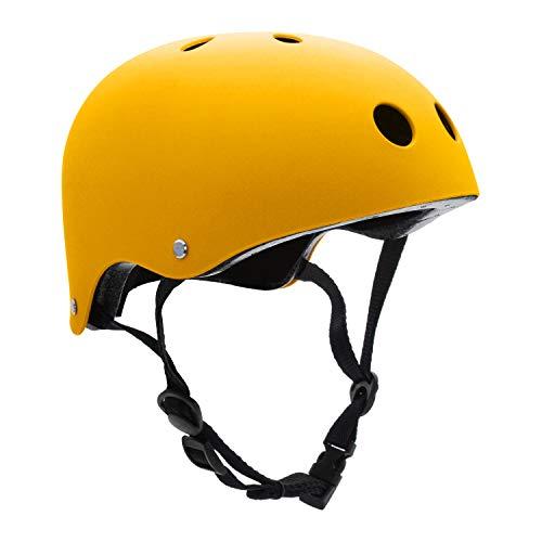 FerDIM Kids/Adult Skateboard Helmet with Removable Liner for Skate, Scooter, Skateboarding, Roller Skate, Climbing, Longboard, Inline Skating, BMX, Bike, Cycling, Skiing Adjustable Straps Multi Color