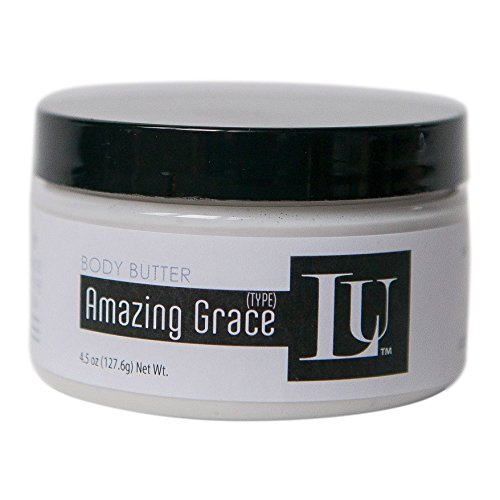 Whipped Shea Body Butter Homemade by Lather Up (Amazing Grace) - Made in USA, Indiana - Grace Body Butter