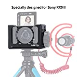 Aosai Metal Camera Cage for Sony RX0 II Arri Camera Vlog Selfie Hand Grip with 37mm Filter Adapter Cold Shoe for Microphone Vlogging Case VS SmallRig