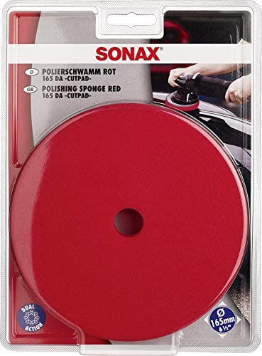 Sonax Exzenterpad Hart 165 Da 1 Stück Verwendung Im Ersten Arbeitsschritt Mit Schleifpolitur Zur Kratzerentfernung Art Nr 04934410 Auto