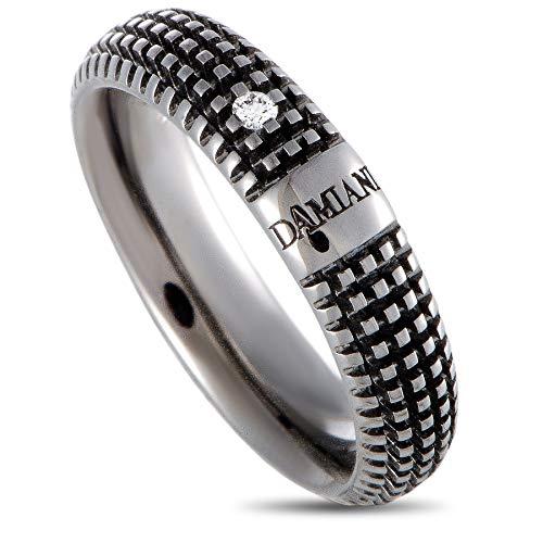 Damiani Metropolitan 18K Black Gold Diamond Band Ring