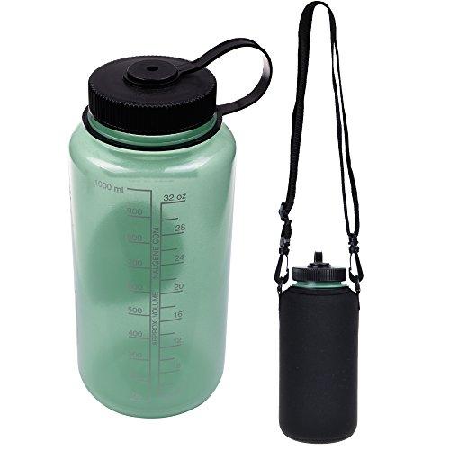 Water Bottle With Strap: Neoprene Water Bottle Sleeve Insulator Cooler W