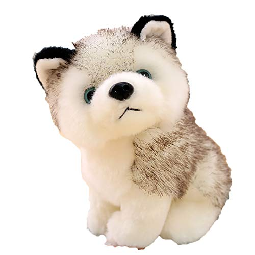 SOOKi Siberian Husky Puppy Dog Toy Plush 18cm/7 Inches, Ultra Soft and Snuggly Doll for Creative and Imagination Play, Playroom & Nursery Pretend Pet Wolf ()