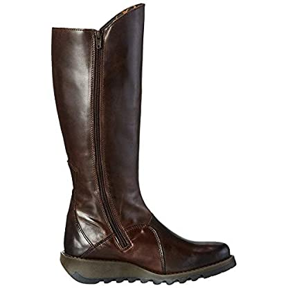 Fly london Mol 2 Dark Brown Leather Womens Knee Hi Boots 2