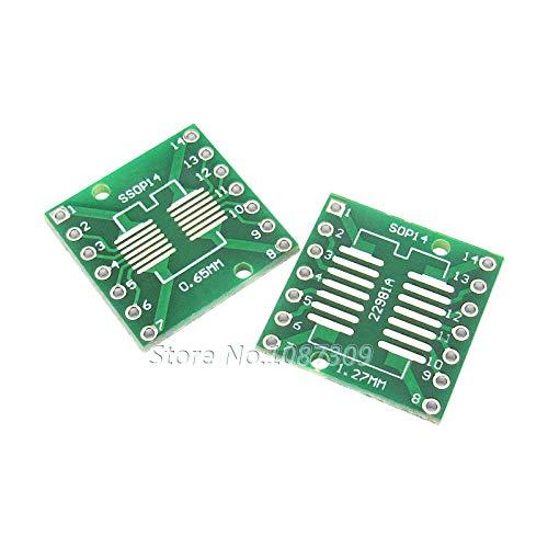 10PCS TSSOP14 SSOP14 SOP14 to DIP14 Transfer Board DIP Pin Board Pitch Adapter TSSOP-14 SSOP-14 SOP-14 Tto DIP-14