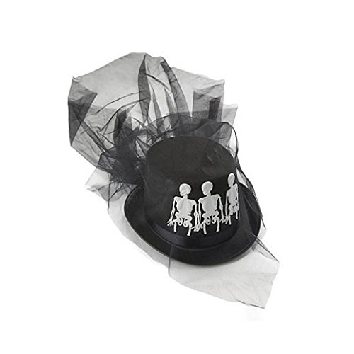 Fancy Party Halloween Ms. Bones Hat ()