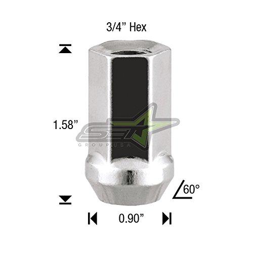 Stud Conversion KIT 12X1.5 20 Chrome Spike Lug Nuts Works with BMW