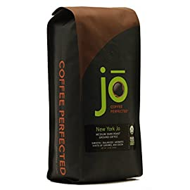 NEW YORK JO: 12 oz, Medium Dark Roast Organic Ground Coffee, 100% Arabica Coffee, USDA Certified Organic, NON-GMO, Fair Trade Certified, Gluten Free, Gourmet Coffee from Jo Coffee