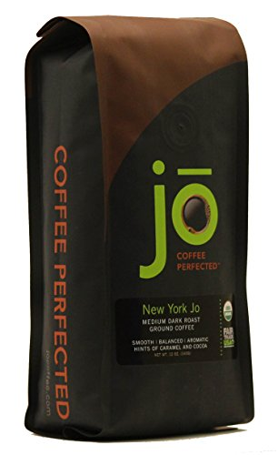 NEW YORK JO: 12 oz, Medium Dark Roast Organic Ground Coffee, 100% Arabica Coffee, USDA Certified Organic, NON-GMO, Fair Trade Certified, Gourmet Coffee from the Jo Coffee Collection