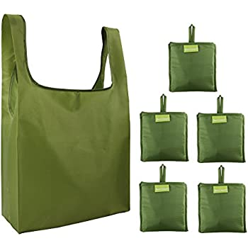 cad5c9b04c55 Amazon.com: Reusable Grocery Bags Set of 5, Grocery Tote Foldable ...