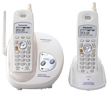 Panasonic Gigarange KX-TG2422 W 2,4 gHz DSS teléfono inalámbrico con dos terminales y identificador de llamadas (blanco): Amazon.es: Electrónica