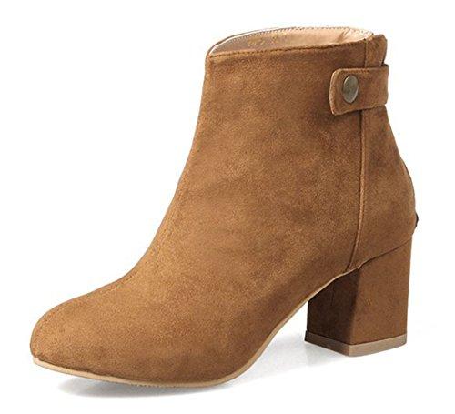 bd919525a7c Boots Chelsea Bout Bottines Low Classique Talon Rond Jaune Femme Bloc Aisun  wPqX8xaCn