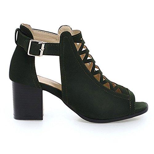 Eclimb Para Mujer Vestido De Noche De Tacón Alto Con Correa En El Tobillo De Punta Estrecha Bombas De Boda Zapatos Verdes