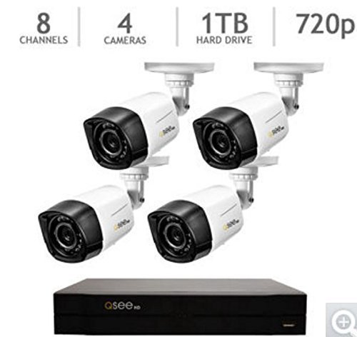 Q-SEE 8 Channel 1TB 720p Analog HD Security System with 4 HD