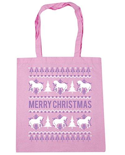 10 Asas Litros Gimnasio X38cm De Clásica De 42cm Caballo Rosa Playa Comercial Feliz Navidad Bolsa Hippowarehouse x6OqCaX