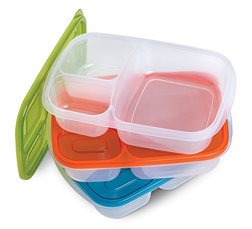 3 Piece Bento Box Lunch Box Set Food Grade Multi Compartment Containers (Bento Box Accesories compare prices)