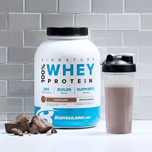 BodyBuilding.Com Signature 100% Whey Protein Powder | 25g of Protein per Serving (Chocolate, 5 Lbs)