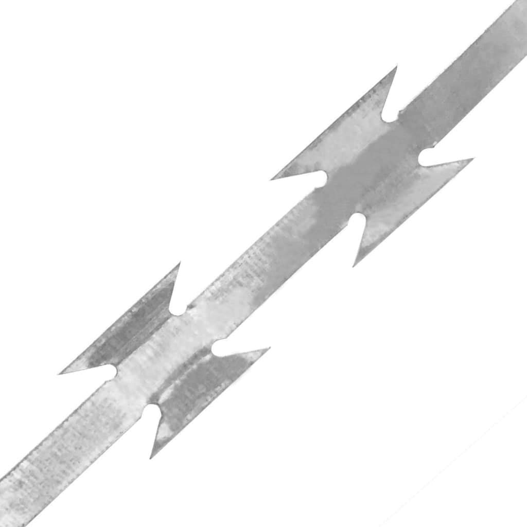 vidaXL Stacheldraht Verzinkter Stahl 500m Sperrdraht Natodraht Klingendraht
