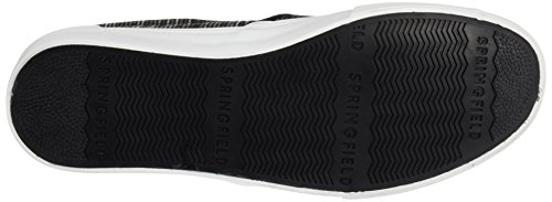 Springfield Slip On Fashion Fabric, Zapatillas para Hombre Negro (Black)