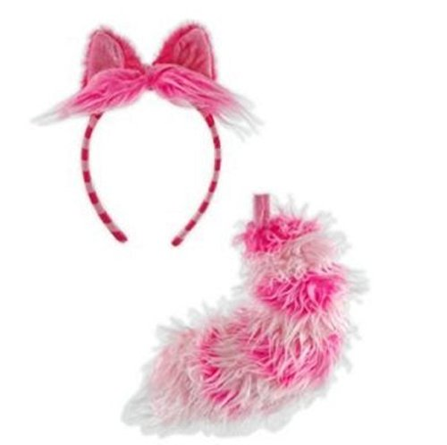 Girls Kitty Cheshire Costumes (Cheshire Cat Ears and Tail)