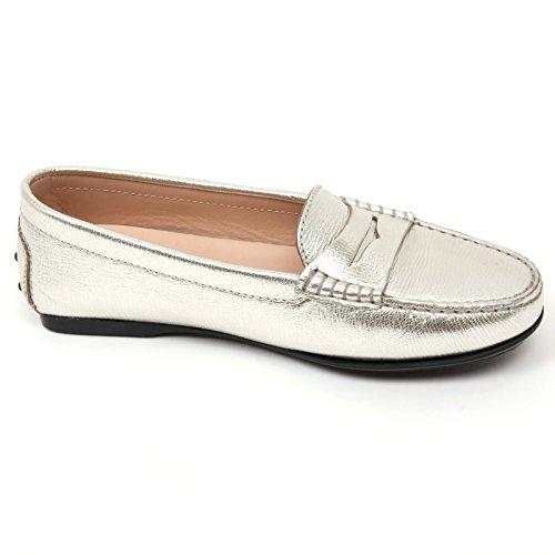 mocassino woman TOD'S scarpa Argento argento donna shoe loafer C9066 R6qTg46