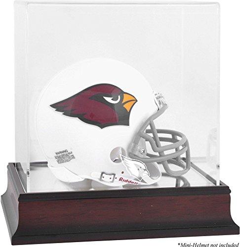 Arizona Cardinals Mahogany Mini Helmet Logo Display Case