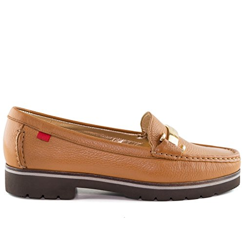 Women's Genuine Leather Made in Brazil Tribeca Bit Buckle Loafer Marc Joseph NY Fashion Shoes Tan Grainy sale discounts clearance latest collections choice cheap online outlet in China buy cheap for nice jtrRXsq3G