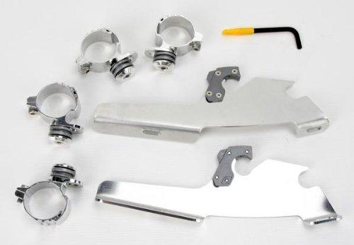Memphis Shades MEM8985 Polished Trigger-Lock Mount Kit for Honda VTX1800 2002-2008