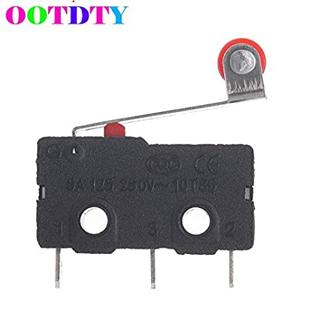 10PCS 3-Pin Micro Tactile Switch Microswitch Round Handle KW11-3Z 5A 250V