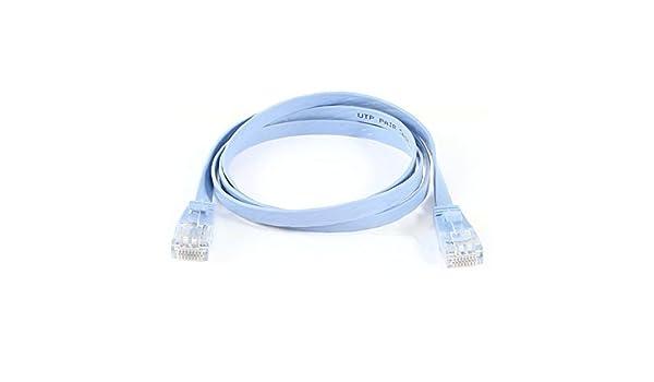 Amazon.com: eDealMax 1M 3,3 pies RJ45 8P8C Male CAT5E red LAN Ethernet Flat Cable Patch Cord Azul pálido: Electronics