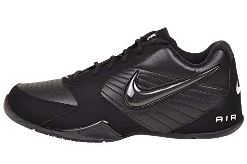 Nike Mens Air Baseline Low Basketball Shoes-Black/Black-White-10