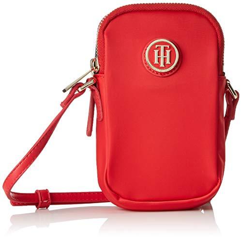Tommy Hilfiger - Poppy Mini Crossover, Bolsos bandolera Mujer, Rojo (Tommy Red), 4x16x9 cm (B x H T)