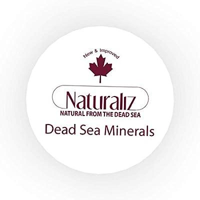 Naturaliz Dead Sea Salt Body Scrub, Cleanse Exfoliator with Natural Essential Oils, 12.3 oz