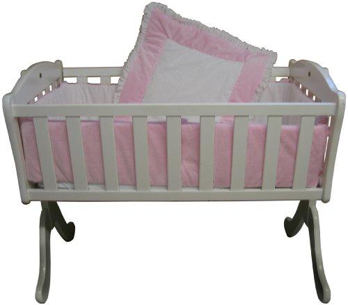 Baby Doll Bedding Snuggle Diamond Minky Cradle Bedding Set, Pink
